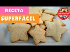 Prepara estas galletas dulces para celíacos en pocos pasos. Receta de galletas sin TACC (sin gluten) con premezcla y sin lácteos. Video.