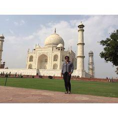 by @sandradrigues #mytajmemory #IncredibleIndia #tajmahal India memories .