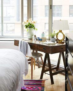 Style your bedroom like the your favorite boutique hotel with polished yet relaxing style