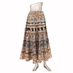 0b241af351 Flared skirt of beautiful interesting prints all over Hippie Skirts