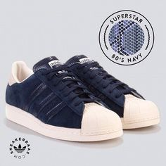 #adidas #superstar #navy #sneakerbaas #baasbovenbaas  Adidas Superstar 80s 'navy'- A nice 'blue blocked'' pattern makes his way on the tongue and sidebranding. The heel and toebox got a fresh off white makeover, back to 80's is you ask us!  Now online available | Priced at 119.99 EU | Men Sizes 36 - 42.5 EU |