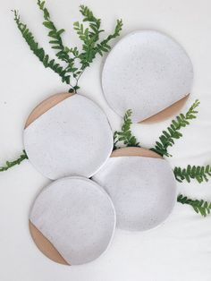 Sylvan Dessert Plate in Speckled Red/Brown and Alabaster by Arrow + Sage