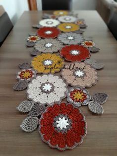 Crochet Table Runner Pattern, Crochet Coaster Pattern, Crochet Mandala Pattern, Crochet Flower Patterns, Crochet Tablecloth, Crochet Patterns Amigurumi, Crochet Designs, Crochet Doilies, Crochet Flowers