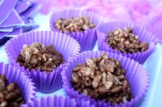 Chocolate rice crispy treats - easier to ball up and then tie in bags