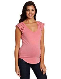 Velvet Women's Maternity Babette Top, Lotus, Large Velvet. $85.50