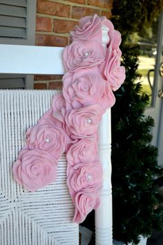 Beautiful light pink fleece flower scarf with chiffon. Made by Threadowl. Click to buy yours now on Etsy!