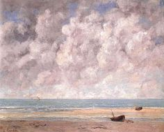 The Calm Sea, 1869 by Gustave Courbet. Realism. landscape