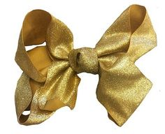 4 INCH GOLD GLITTER BOW