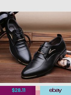 8cafbe2b37cf Casual Hot Fashion Men s Formal Business Pointed Casual Lace Up Oxfords Leather  Shoes