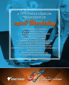 #TipsMicrosip 6 tips para elegir un proveedor de email marketing