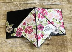 We're hopping all over the world with some fun cards. It's time for the new Fancy Fold for this month – the Teepee Fold Card! Fancy Fold Cards, Folded Cards, Unique Cards, Cool Cards, Wink Of Stella, Shaped Cards, Tent Cards, Card Sketches, Stampin Up Cards