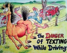 Never texting while driving !!!