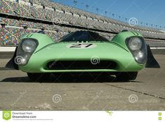 Front nose of a 1969 Lola T70 Mark 3b Coupe Race Car at the track