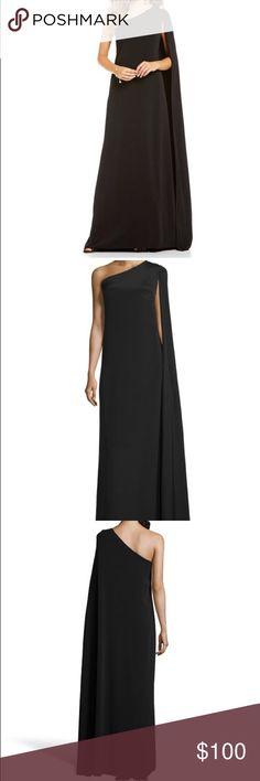 Jill Stuart black one shoulder cape gown Jill Stuart Black one shoulder cape gown. Never worn but removed tags. Jill Stuart Dresses Prom