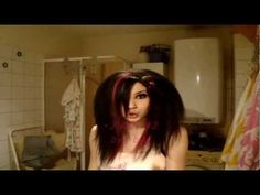 Emo hair (how to) 1 - YouTube