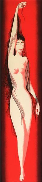 Black Silken Hair - Eyvind Earle