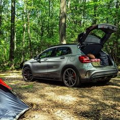 The GLA45 AMG's wide stance and large tailgate makes it easy for us to clean up the campsite. This truly is the perfect package. #MBPhotoPass @andrewlink #Mercedes #Benz #GLA #GLA45 #AMG #SUV #instacar #carsofinstagram #germancars #luxury #NY #NewYork #MBphotocredit