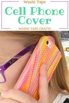 Show your own style by making a fun cell phone cover using washi tape and decoupage. Your phone is a part of you, and so should your cell phone case.  #washitapecrafts