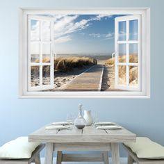"""FOTOTAPETE """"Beach Window 2T1"""" 127cm x 183cm Meer Strand Dünen ocean way TAPETE in Heimwerker, Farben, Tapeten & Zubehör, Tapeten & Zubehör   eBay"""