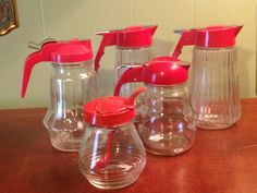 Red Syrup Pitcher Collection