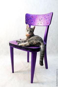 Vintage chaiк / Мебель ручной работы. Ярмарка Мастеров - ручная работа. Купить Cтул ретро фиолетовый. Handmade. Тёмно-фиолетовый, Мебель, стулья
