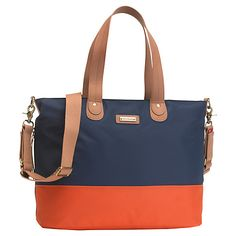 Buy Storksak Tote Changing Bag, Orange/Navy Online at johnlewis.com £70