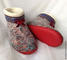 Valya chuni of Sliver - Fair Masters - handmade, handmade Wet Felting, Needle Felting, Felt Boots, Wool Shoes, Felted Slippers, Felting Tutorials, Winter Warmers, Felt Diy, Crochet Home