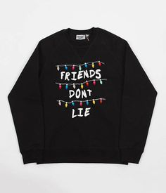 Excited to share the latest addition to my shop: Black Stranger things inspired 'Friends don't Lie' alphabet Unisex sweatshirt Stranger Things Hoodie, Stranger Things Netflix, Cute Casual Outfits, Outfits For Teens, Mode Kawaii, Non Plus Ultra, Vetement Fashion, Tumblr Outfits, Cute Shirts