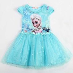 Kız Elbise Yaz Marka Toddler Kız Giysi Dantel Sequins Prenses Anna Elsa Elbise Kar Kraliçe Cadılar Bayramı Partisi Rol oynamak kostüm