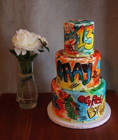 Graffiti inspired birthday cake from the Frosted Fox Cake Shop in Philadelphia.