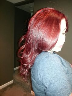 Beautiful red hair color