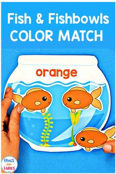 This is a fun, hands-on color matching printable activity to work on color identification, counting and fine motor skills! Great for preschool or kindergarten math centers. #preschool #kindergarten #matchingcolors