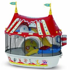 Your hamster deserves more than just a plain old traditional cage! Give her an extra special home in the Ferplast Circus Fun Hamster Cage. This fun and colourful cage is inspired by the circus, with a circus tent design that you can hand-decorate wit . Dwarf Hamster Cages, Cool Hamster Cages, Hamster Care, Syrian Hamster, Gerbil, Cage Petit Animal, Small Animal Cage, Pet Supplies, Cutest Animals