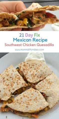 21 day fix quesadilla recipe 21 day fix mexican recipes dinner - Comida Faciles Clean Eating Recipes, Clean Eating Snacks, Healthy Dinner Recipes, Mexican Food Recipes, Diet Recipes, Cooking Recipes, Mexican Drinks, Healthy Food, Vegan Recipes