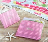 Mackenzie Pink Dot Wet/Dry Pouches