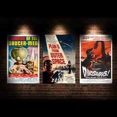 13 Deals - Vintage Scary Movie Posters - 3 To Choose From! Available As Poster Or Canvas - SHIPS FREE!