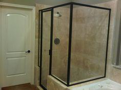 Framed Shower Door, Atlanta, Georgia - Photo 1 #ShowerDoor #HomeImprovement #Atlanta #BathroomRemodel #InteriorDesign #WalkInShower Framed Shower Door, Glass Shower Doors, Atlanta, Shower Enclosure, Walk In Shower, Home Improvement, Interior Design, Photos, Home Decor