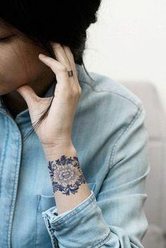 Stunning Wrist Flower Tattoo