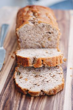 Gluten Free Banana Bread    ½ teaspoon Baking Soda  ½ teaspoon Sea Salt  1½ teaspoon Baking Powder  ½ teaspoon Cinnamon  ¼ teaspoon ground Nutmeg  ½ cup chopped walnuts  2 Eggs, beaten  6 ripe Bananas, mashed  ⅓ cup Raw Honey  1 teaspoon Vanilla Extract  ½ cup melted Coconut Oil