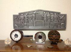 Gilbert Rohde clocks machine age plaque