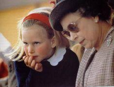 The Queen with her eldest granddaughter, Zara Phillips