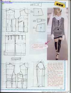 Skirt and jacket , patterns instructions