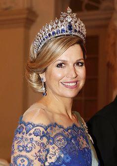 Queen Maxima wearing absolutely stunning Dutch sapphires