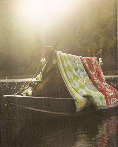 beautiful shot of a boat on a lake