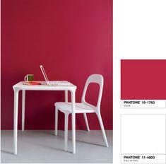 Couleur peinture cuisine rouge blanc Tollens Castorama