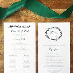 Wedding Program by 'ello Paper.