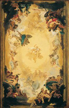 Giovanni Battista Tiepolo - Apollo and the Continents, oil on canvas painting by Giovanni Battista Tiepolo, c. 1739