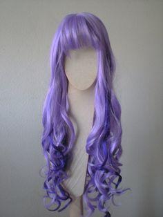 Purple wig Dark/ Light Purple wig Glamour long loose by kekeshop, $59.95
