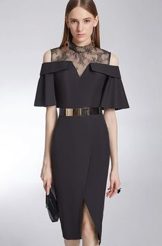 – Elegant Black Dress Dinners, Weddings, Ceremonies – Material: L … – Daily Posts for Women Simple Dresses, Elegant Dresses, Pretty Dresses, Beautiful Dresses, Short Dresses, Beauty And Fashion, Look Fashion, Fashion Design, Spring Fashion