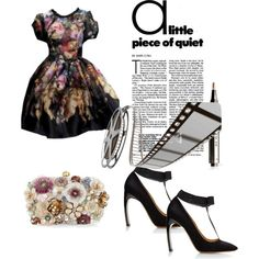Untitled #199 by wanndan-jco on Polyvore featuring Nicholas Kirkwood, Accessorize, Dolce&Gabbana and Burberry